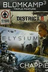 Poster for Blomkamp Trilogy - District 9, Elysium & Chappie UV HD or iTunes HD via Movies Anywhere