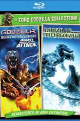 Poster for Godzilla Against Mechagodzilla (2002) / Godzilla, Mothra, and King Ghidorah: Giant Monsters All-Out Attack - Set [Blu-ray]